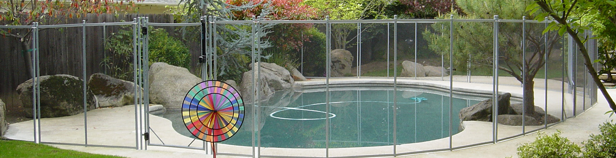 beautiful pool fence