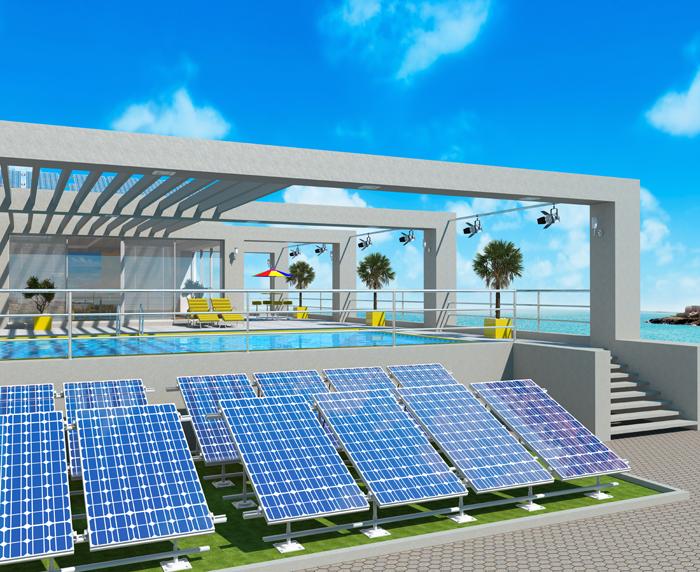 Solar Panels Heated Pool