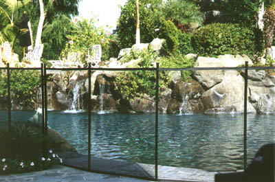 Fence around pool pool safety fence in los angeles ca - California swimming pool building codes ...