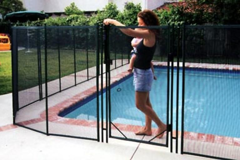 Pool Fence Walnut