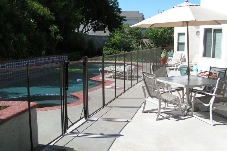 pool fence whittier