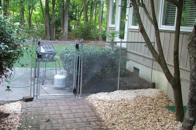 pet mesh fence
