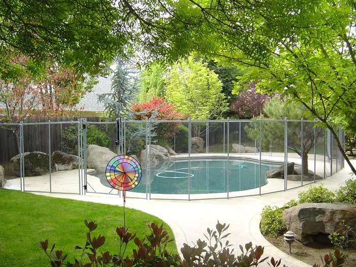 Pool Safety Fence With Self Closing Pool Gate Guardian
