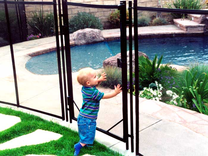THE SAFEST AND STRONGEST POOL FENCE. #1 Swimming Pool Safety Fencing with Pool Gate